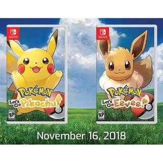 [Pre-order] Nintendo Switch Pokemon Let's Go Pikachu / Eevee