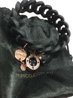 Mimco rubber charm bracelet