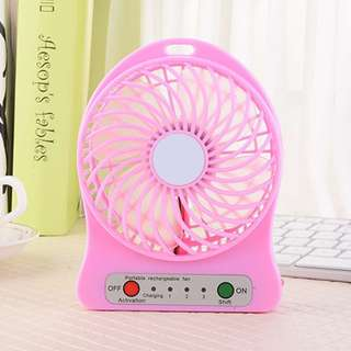 Portable Rechargeable Mini Pink Fan