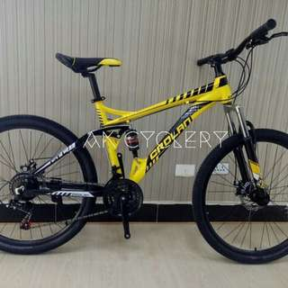 "🚚 MTB 26"" CROLAN S935 Aluminium Full Suspension 21 Speed Shimano Gear Mechanical Disc Brakes Bicycle"