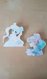 Princess Serenity Acrylic Pins