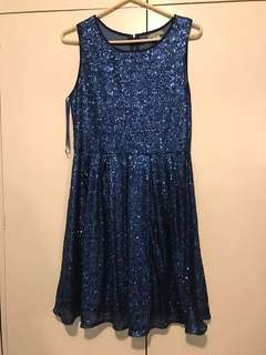 💙 Blue Sequined Dress