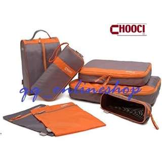 CHOOCI 旅行收納防水袋 7件裝 衣物袋 洗漱包 行李箱 旅遊整理包袋 Thin And Light Luggage Packing Organizers Set Of 7 CU0701 For Travel