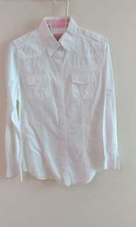 White slim-fit shirt
