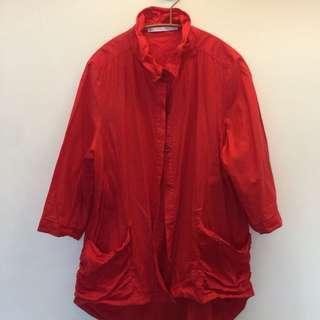 🚚 紅色薄襯衫(也可當冷氣房外搭)