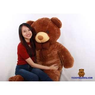 BONEKA TEDDY BEAR SUPER SUPER JUMBO 1,5 M WARNA COKLAT