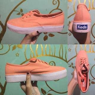 Keds triple sneakers peach
