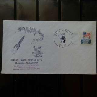 [lapyip1230] 美國火箭封 1972年 阿拉斯加火箭郵封(上過火箭)