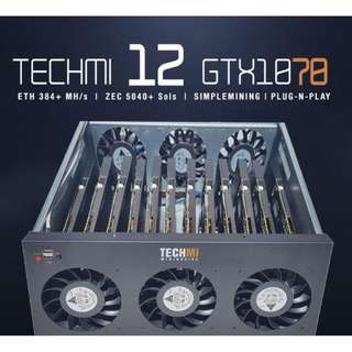 12 GPU Nvidia GTX 1070 8GB - Mining Rig PLUG-N-PLAY OS