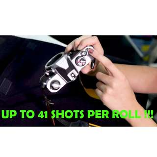 Get up to 41 shots per roll of 35 film !!!!!!! ( How to load 35mm analogue film camera ) #Blessing