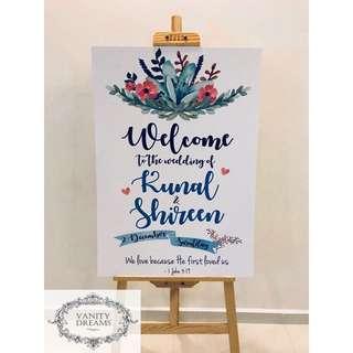 Customised Wedding/Birthday/Baby Shower Signage