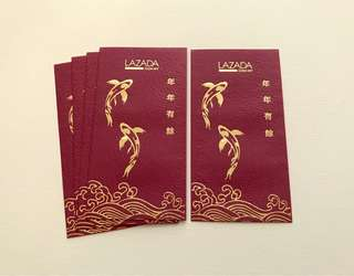 5pcs Lazada 2018 red packet / ang pow pao