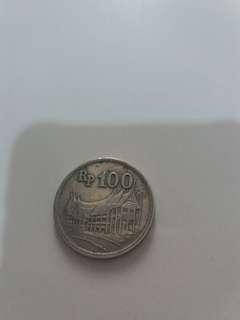 Uang KUNO Logam Rp100 Th.1973