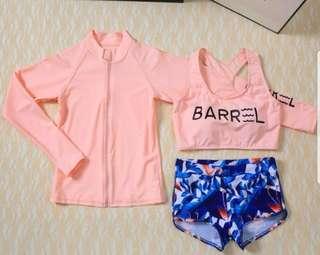 Rash guard swim diving suit 3 pc set free shipping new