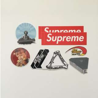 Supreme & Palace Logo Stickers