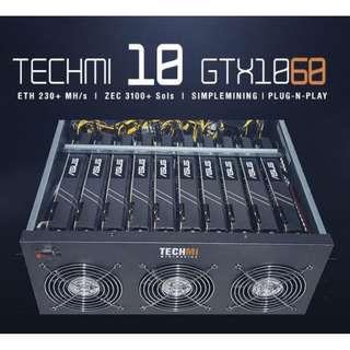 10 GPU Nvidia GTX 1060 6GB - Mining Rig PLUG-N-PLAY OS