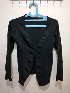 Cardigan hitam basic