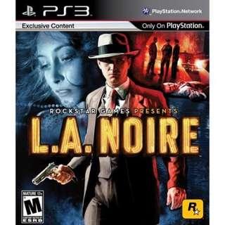 PS3 Game la noire
