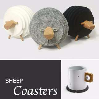 BAHBAH Sheep Coaster/ Drink/ Set/ Glass/ Cup/ Quirky/ Funny/ House-Warming Gift/ HOME&LIVING