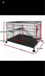 2 layer Pet cage - rabbit used it before