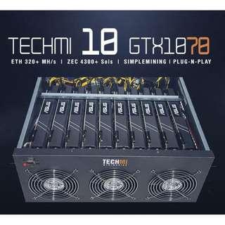 10 GPU Nvidia GTX 1070 8GB - Mining Rig PLUG-N-PLAY OS