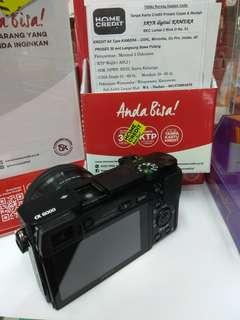 Kredit Kamera Sony a6000 Dp 10% cukup KTP+SIM/KK