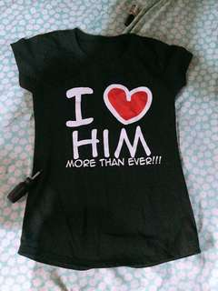 I ❤️ him shirt