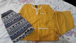 Baju Melayu set sampin