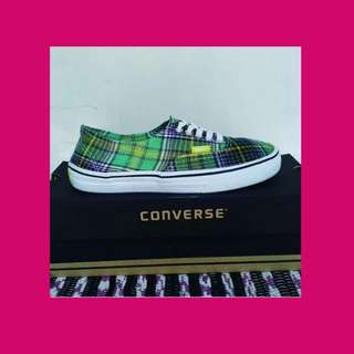 VANS Authentic green flanel
