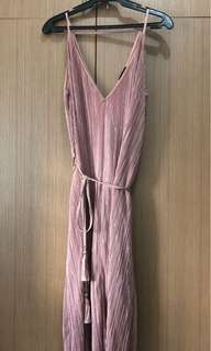 Pink Flowy Dress from Topshop