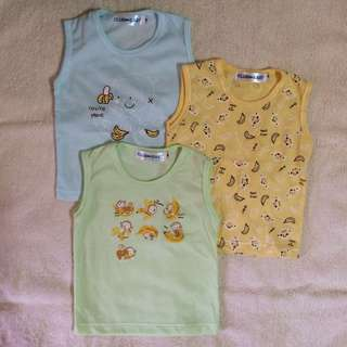 3 sleeveless tops