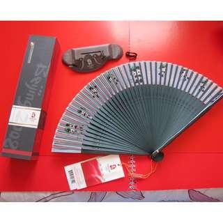 2008 北京奧運紀念品 熊貓福娃紙扇