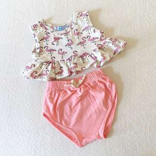 Baby Girl Flamingo Set