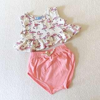 Baby Girl Flamingo Set