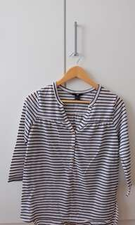 H&M Long-sleeved Shirt w/ Stripes