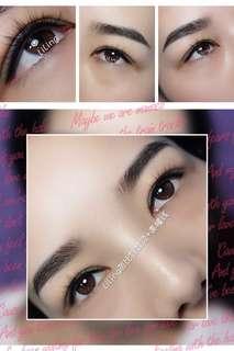 Eyeliner embroidery n eyebrow