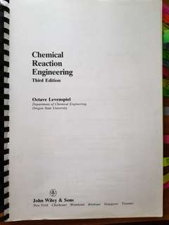 🚚 Chemical Reaction Engineering cn2116