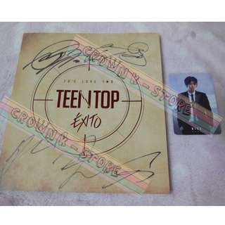 [ONLY HAVE 1PC][CRAZY DEAL 50% OFF FROM ORIGINAL PRICE][READY STOCK][RARE]TEEN TOP KOREA EXITO MINI ALBUM WITH ALL MEMBER REAL HAND AUTOGRAPHED+NIEL PHOTO CARD(UNSEALED) NO POSTER!OFFICIAL ORIGINAL FROM KOREA (PRICE NOT INCLUDE POSTAGE)