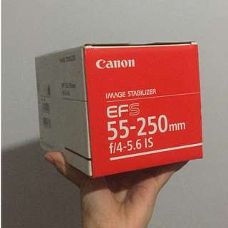 LENS CANON IS 55-250 MM JUAL CEPET