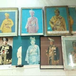 Poster Frame Raja Raja Melayu Lama