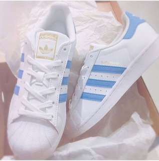 ㊣品折扣 Adidas Superstar bule 淺藍