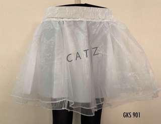 < CATZ > Lace Skirt Pom Pom Skirt Tutu Skirt Can Can White Lace Skirt White Skirt