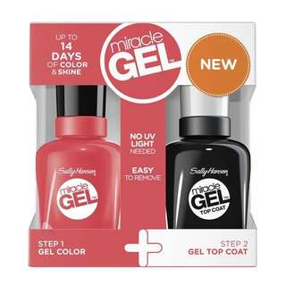 Sally Hansen Miracle Gel Duo Pack Coral Carnival