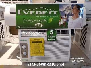 Brand New EVEREST Window Type Aircon Inverter & Non Inverter