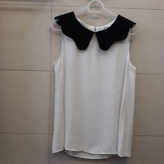 Flowy White Top (Korea)