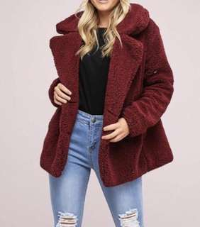 Wine Teddy Jacket