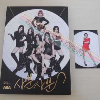 [ONLY HAVE 1PC][CRAZY DEAL 50% OFF FROM ORIGINAL PRICE][READY STOCK][RARE]AOA KOREA 2ND MINI ALBUM WITH ALL MEMBER REAL HAND AUTOGRAPHED+HYE JEONG PHOTO CARD(UNSEALED) NO POSTER!OFFICIAL ORIGINAL FROM KOREA (PRICE NOT INCLUDE POSTAGE)