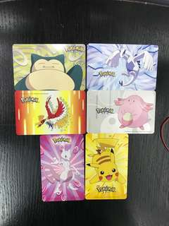 Complete set of Pokémon Ezlink cards!