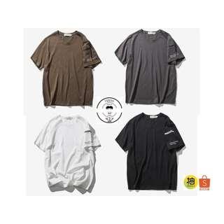 『誰合普UHF®』合作品 口袋純色 百搭休閒 情侶短袖上衣 4色(網路特賣價$750)起標價=直購價