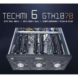 6 GPU Nvidia GTX 1070 8GB - Mining Rig PLUG-N-PLAY OS